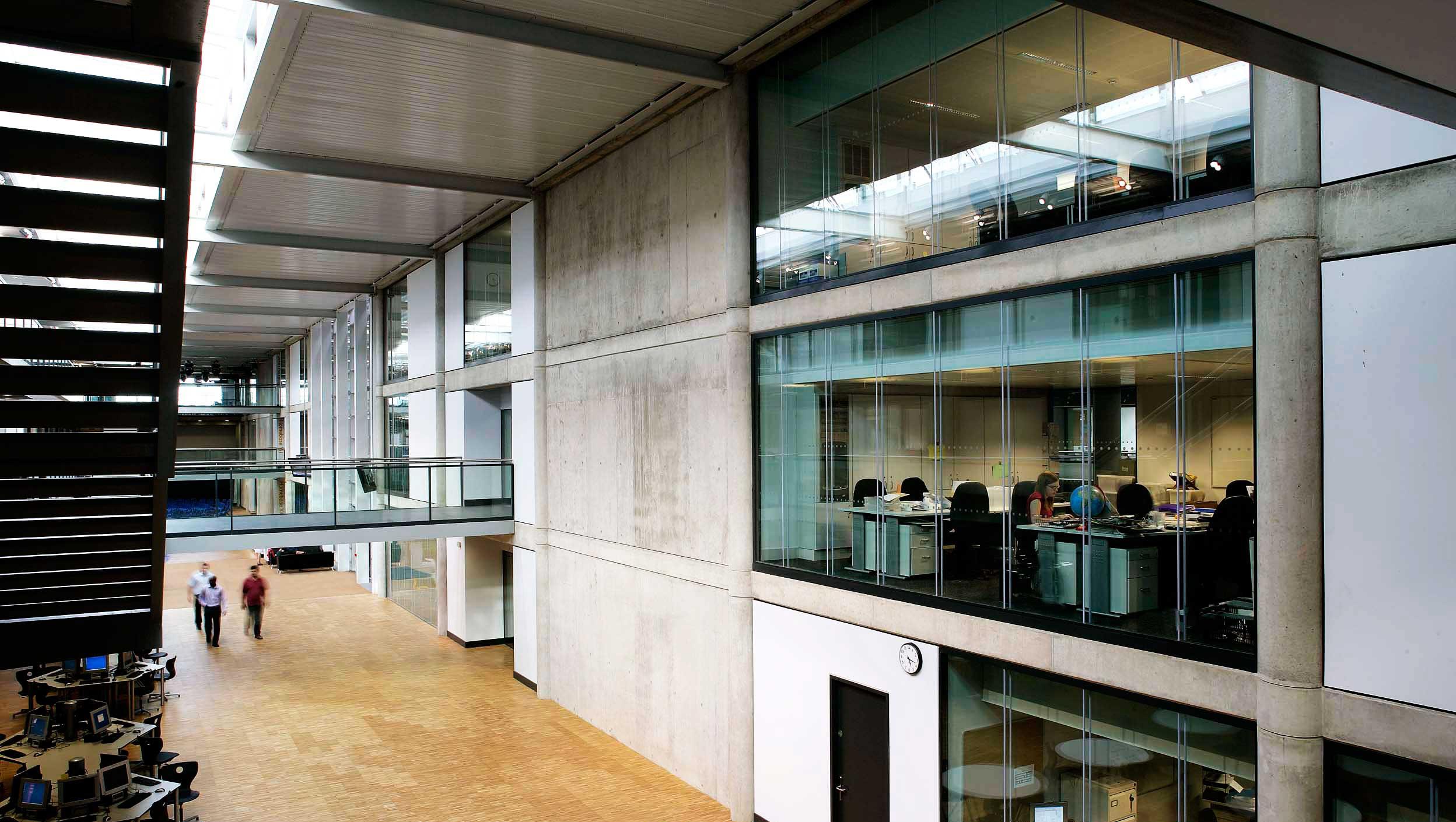 Glass Walls to Break up Concrete Architecture