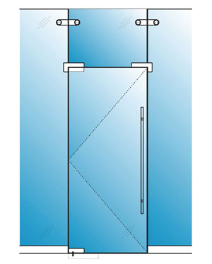 Hinged Glass Doors