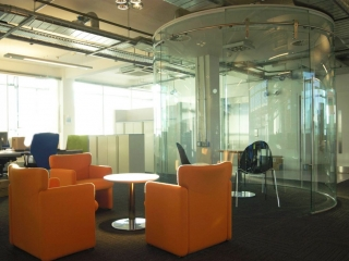 Single Glazed Frameless Glass Wall Partition Gallery 7