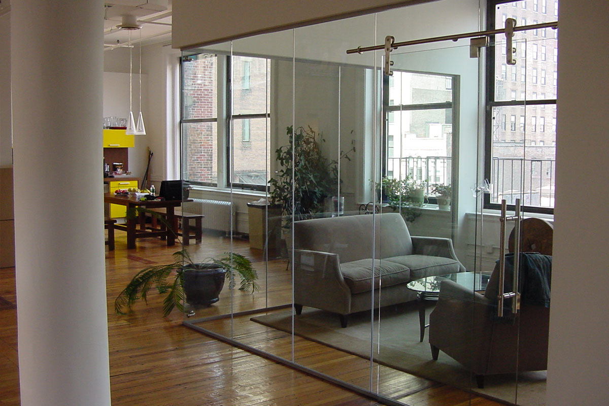 Single Glazed Frameless Glass Wall Partition Gallery 11