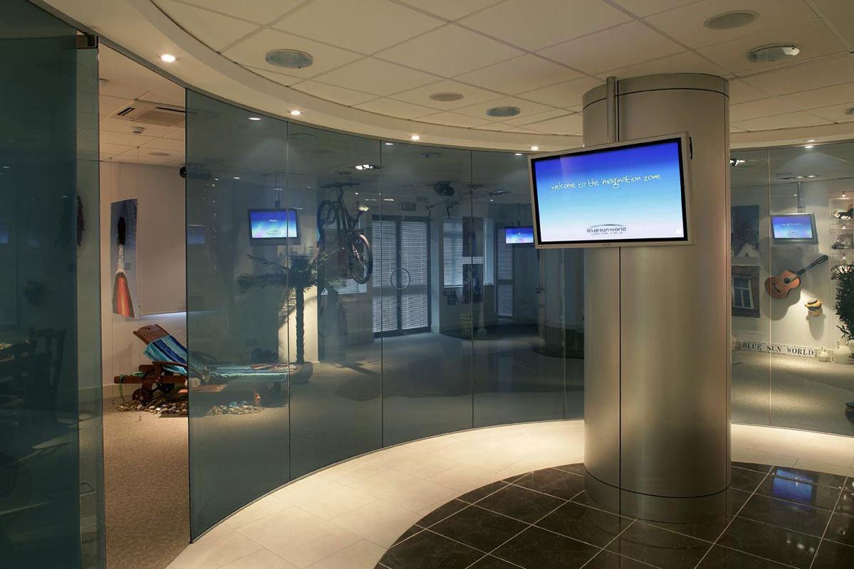 Single Glazed Frameless Glass Wall Partition Gallery 8