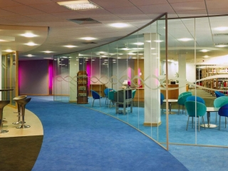 Single Glazed Frameless Glass Wall Partition Gallery 2