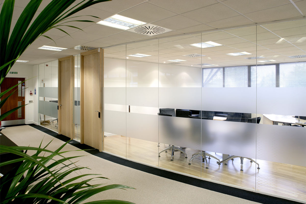 Glass office partitions wall systems avanti systems usa Interior glass partition systems