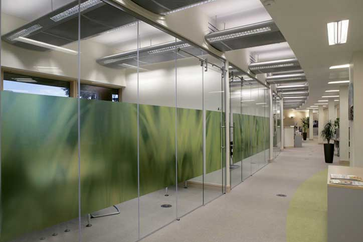 glass office divider - Sliding Glass Wall