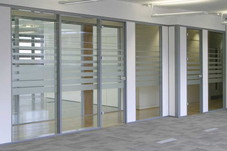 office glass door. Glass Office Divider Door S
