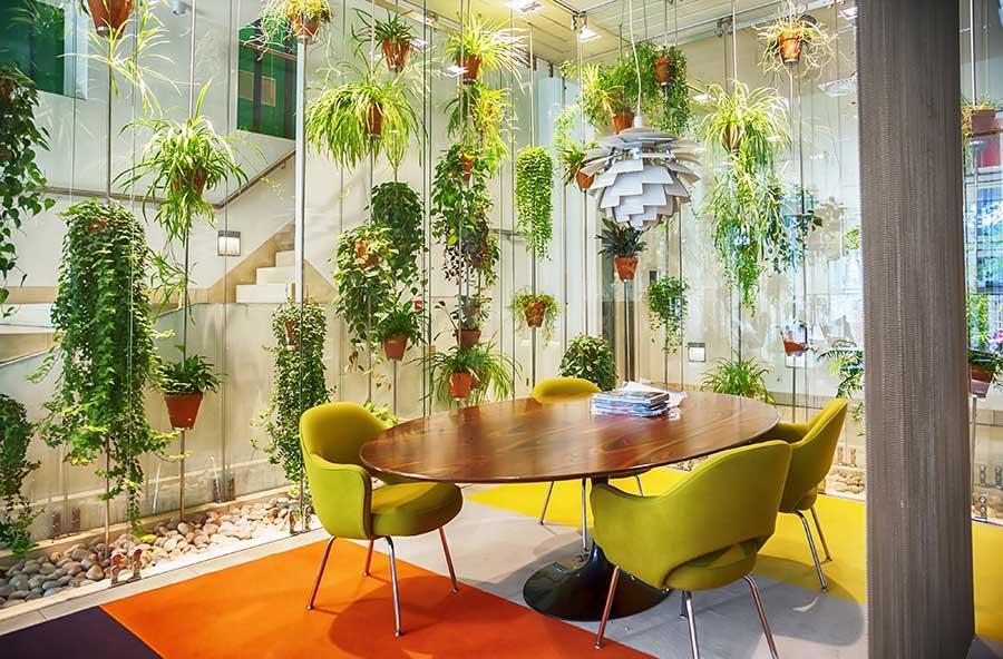 living greenery workspace