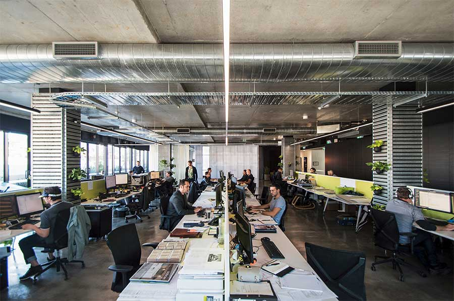 Wide Open Office Spaces and Transformable Areas Increase Productivity
