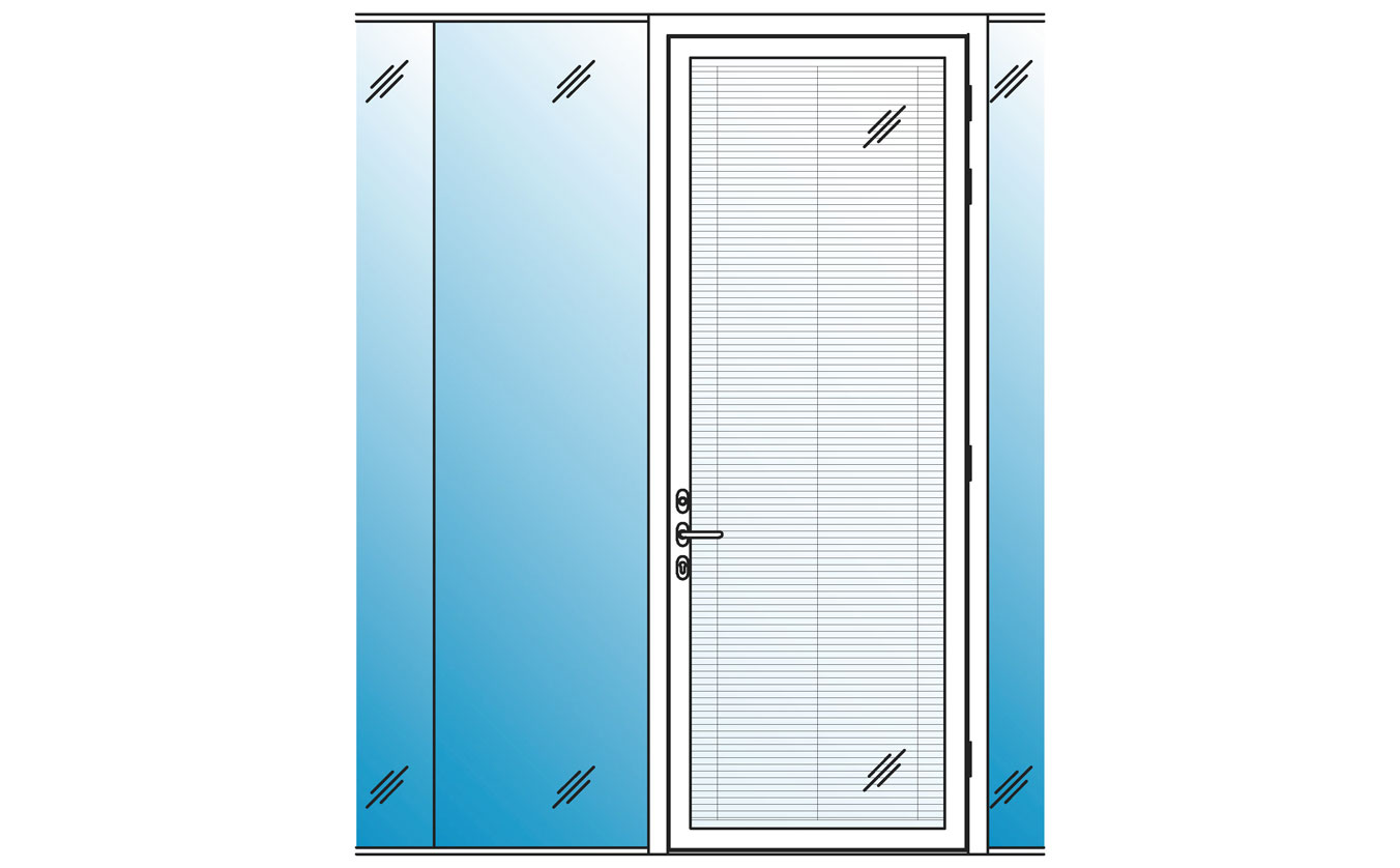 Acoustic double glazed sound resistant glass doors for Double glazed glass panels