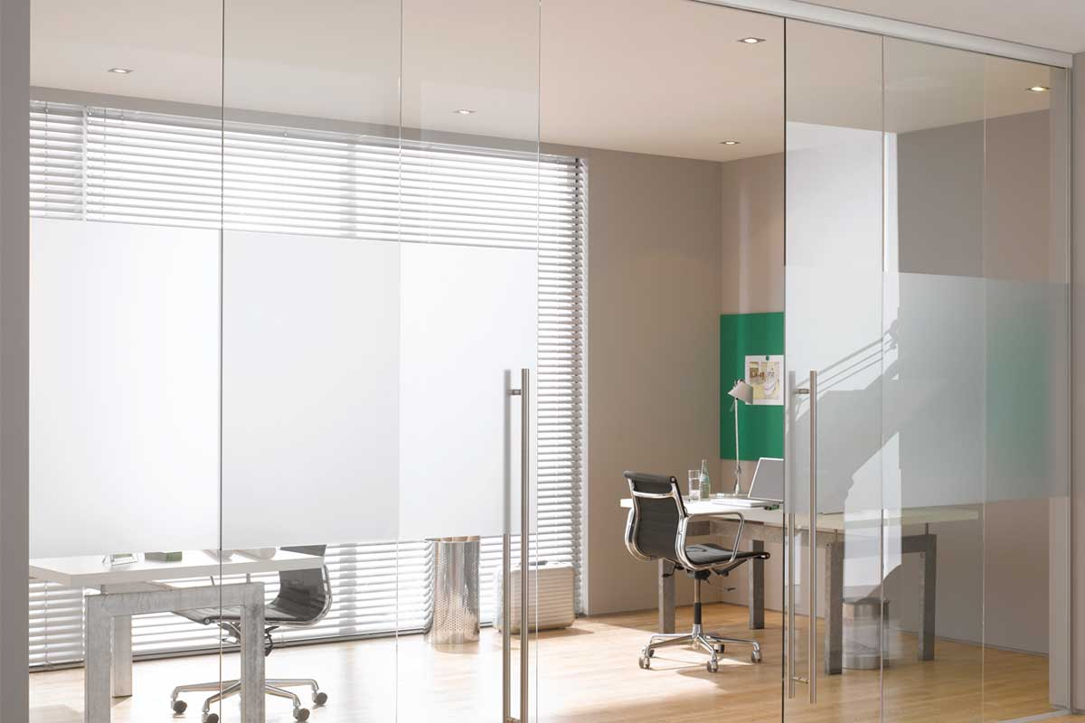 Glass office doors manufacturers - Cloud Assisted Close Sliding Premium Glass Door 3