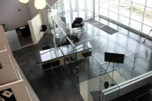 Freestanding Glass Wall Partition Gallery 5