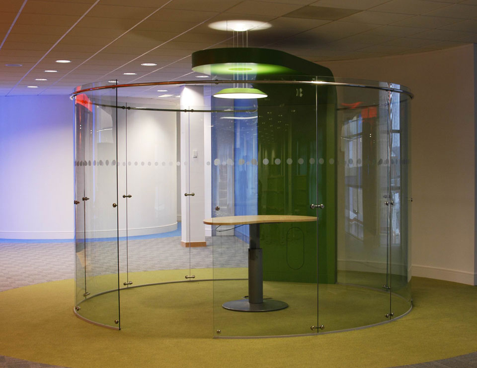 Freestanding Glass Wall Partition Slider 4