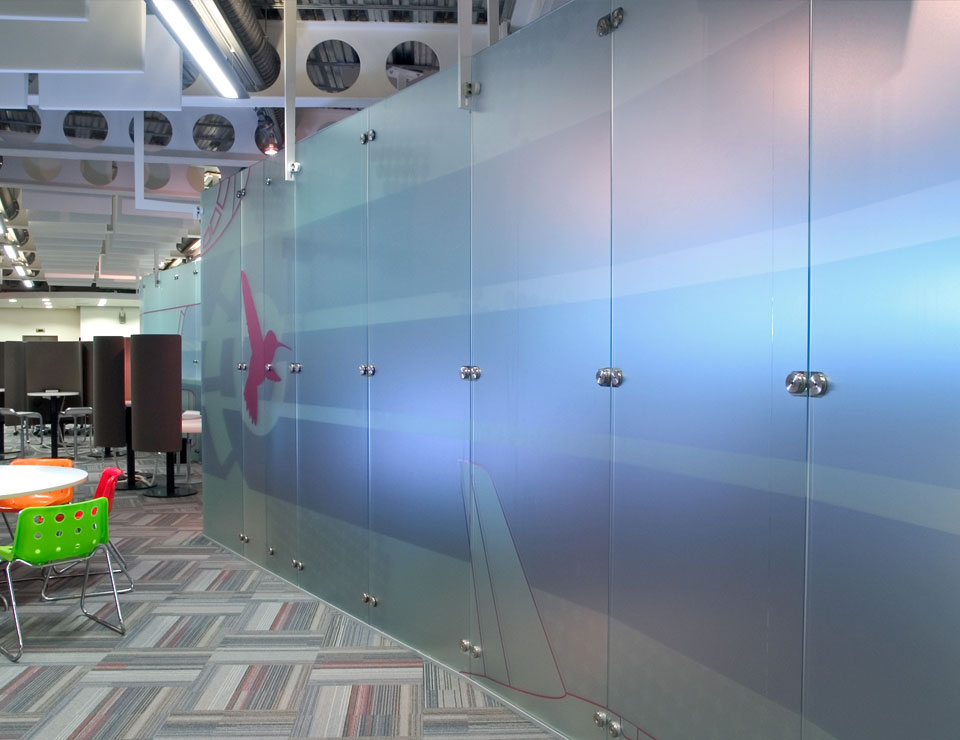 Freestanding Glass Wall Partition Slider 5