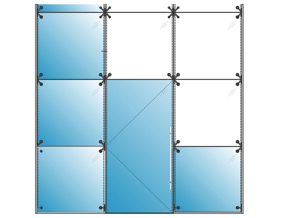 High Wall Glass Partition Systems