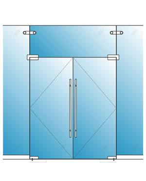 Pivot Glass Door (Pair)