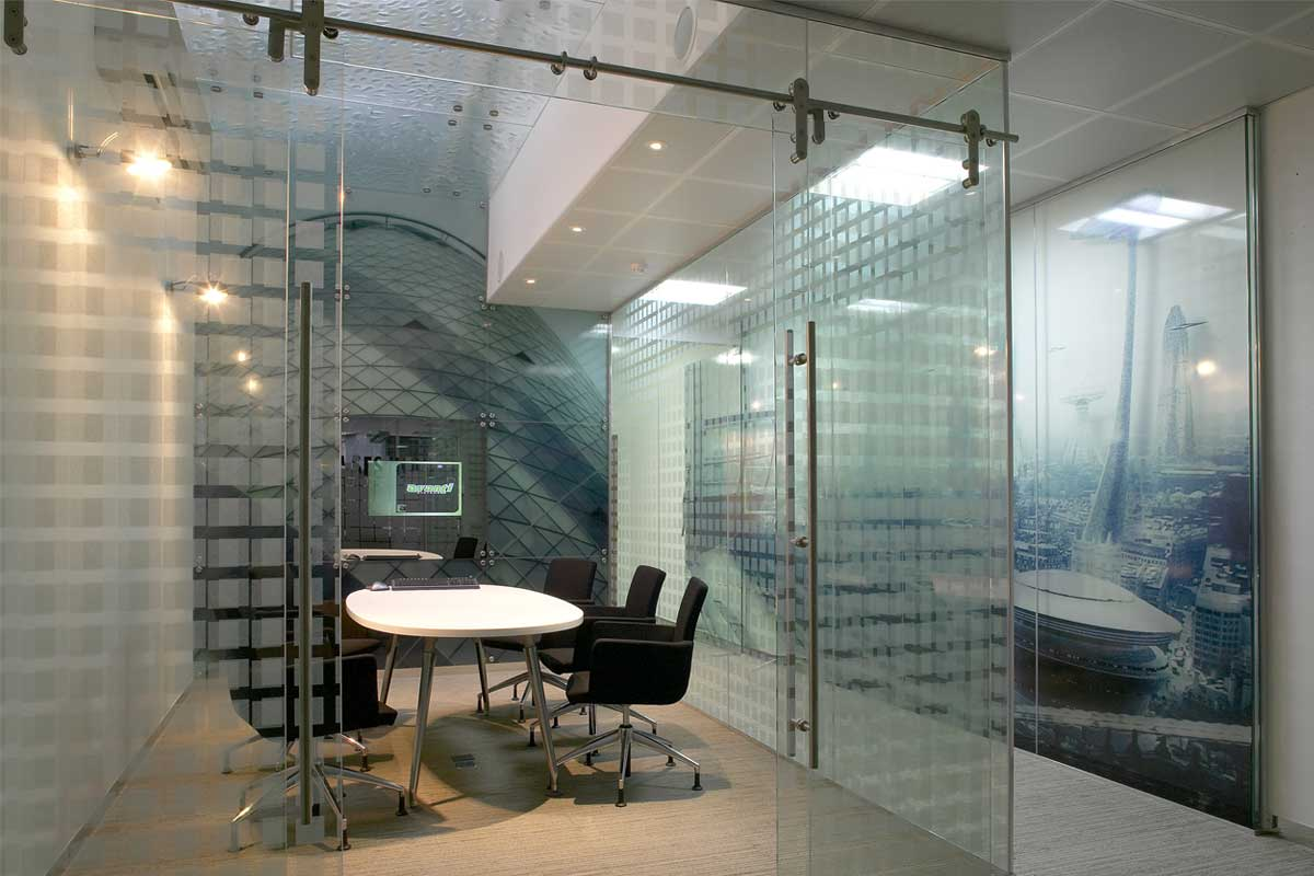 Rail sliding barn glass doors avanti systems usa Interior glass partition systems