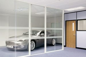 Acoustic Frameless Glass Wall Partition System Gallery 5