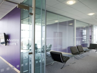 Acoustic Frameless Glass Wall Partition System Gallery 4