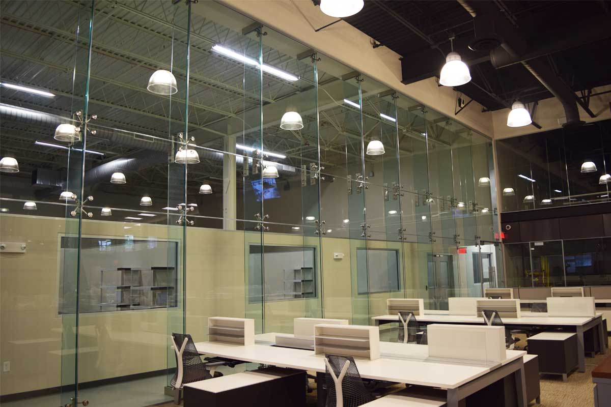 Attractive High Wall Glass Partition Systems