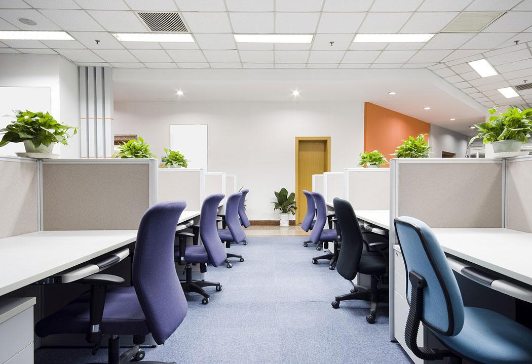 Modern office balanced interior
