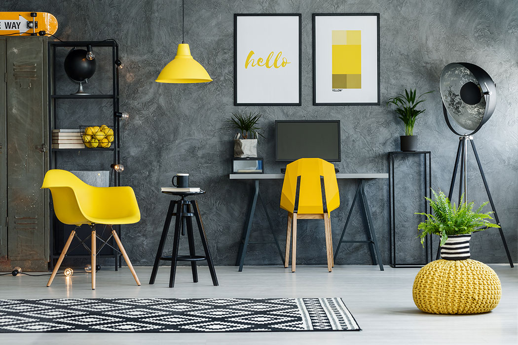 Scandinavian design of freelancer office