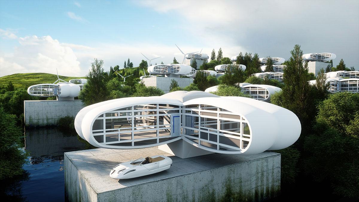 3D Futuristic City