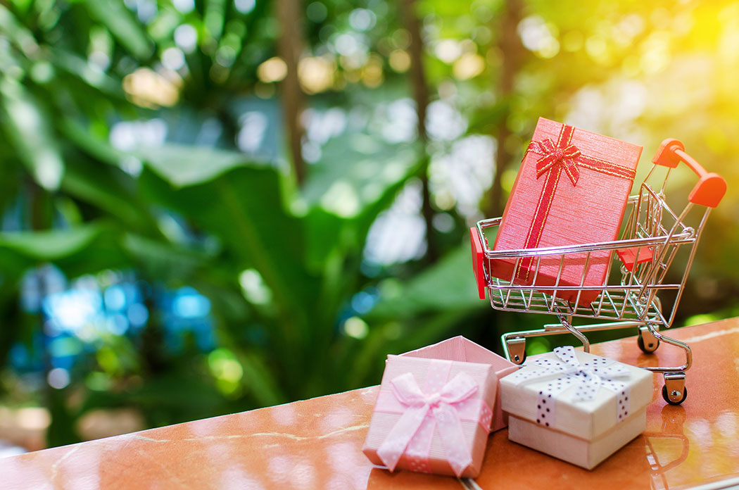 Mini supermarket shopping cart