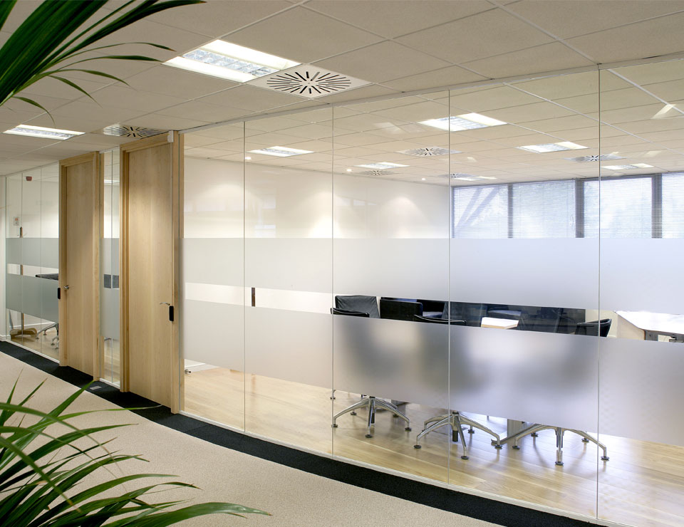 Doors with modern office partitions