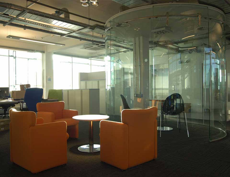 Another example of modern office partitions
