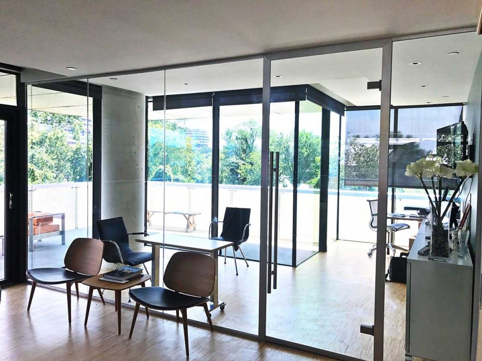 Floor to Ceiling Glass Doors