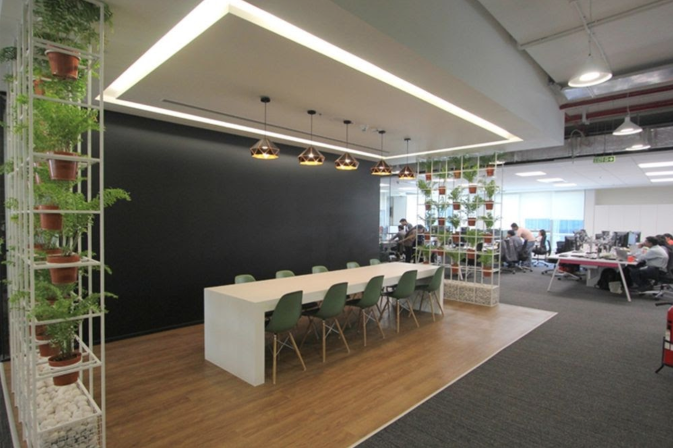 Plants can also boost moods and creativity in the office