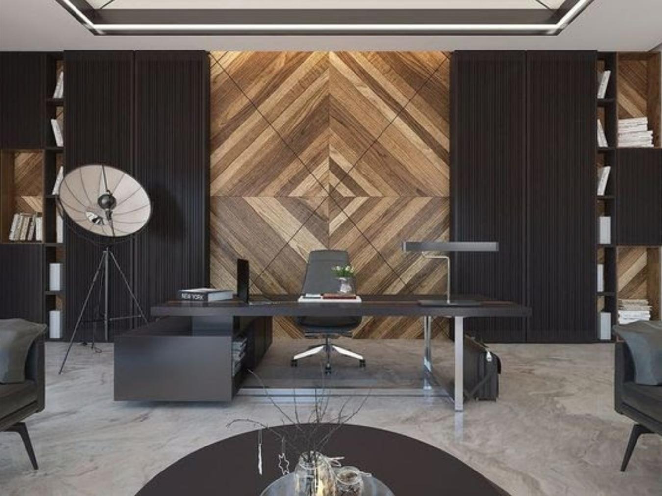 Statement wall - office interior design inspiration
