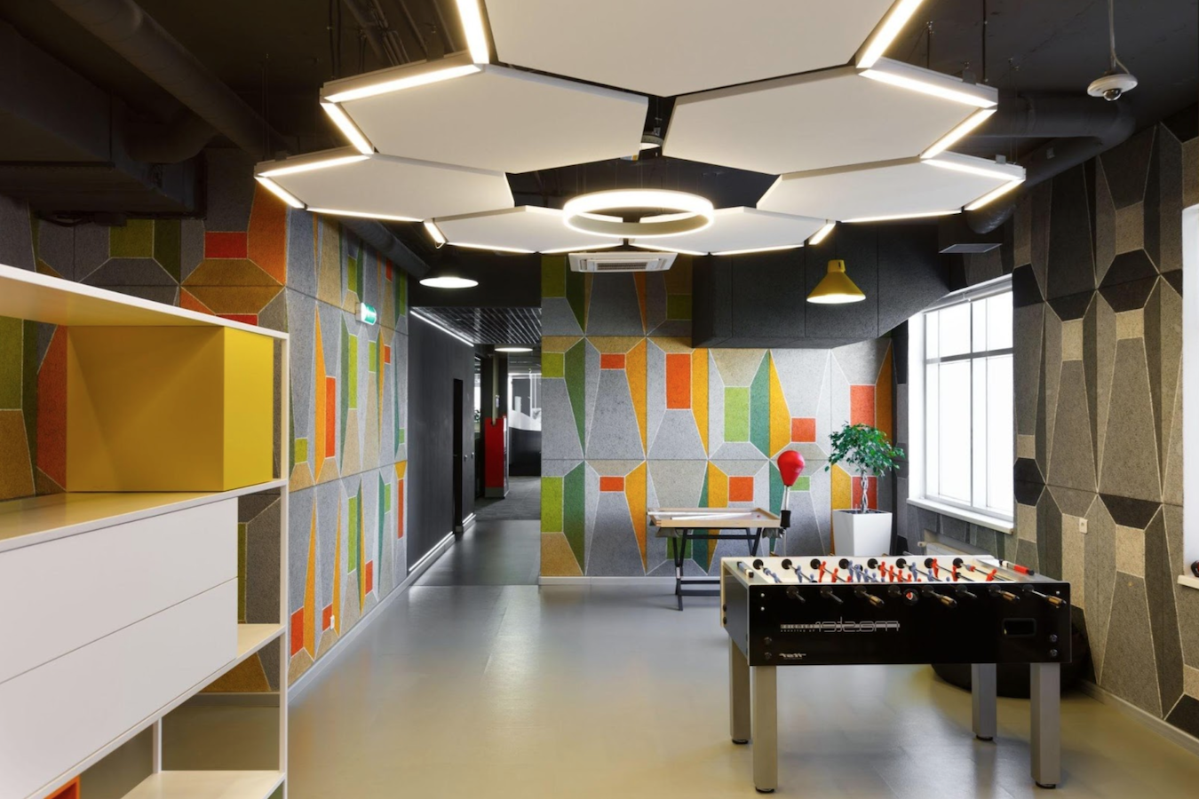 Go geometric with office interior design inspiration