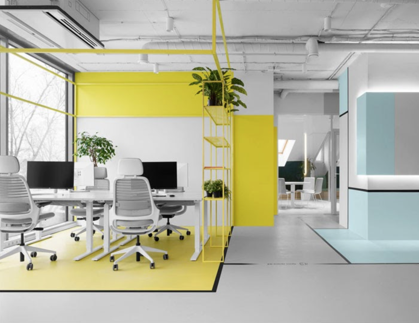 Incorporate bold colors - office design inspiration