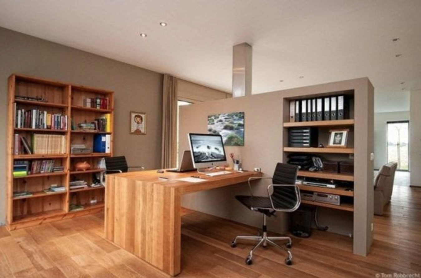 Create calm with neutral colors - office design inspiration