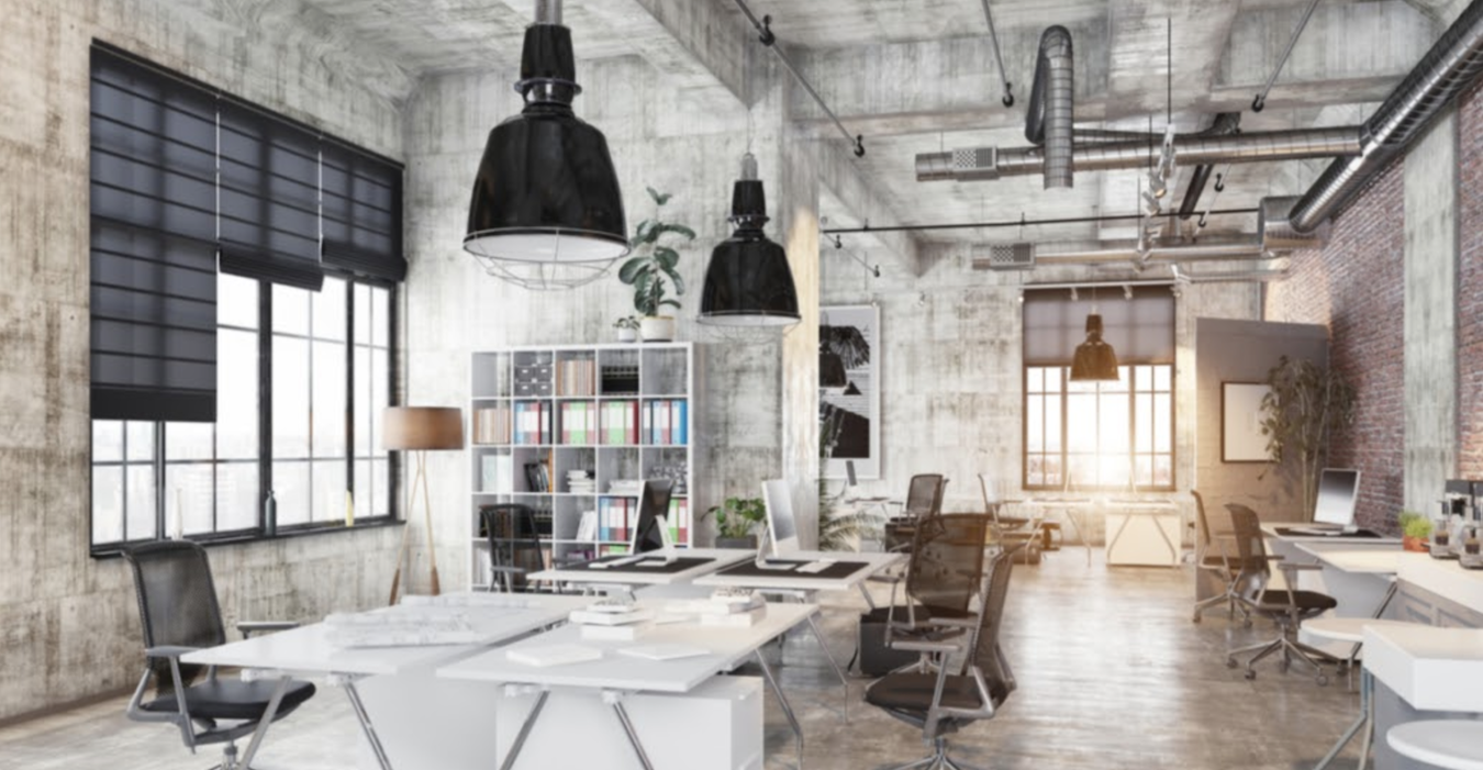 Soft brown walls and natural wood elements encourages productivity