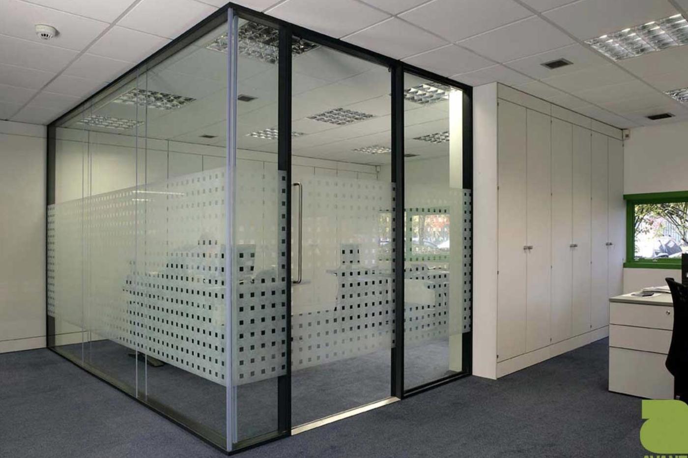Glass pocket door is a unique commercial interior door