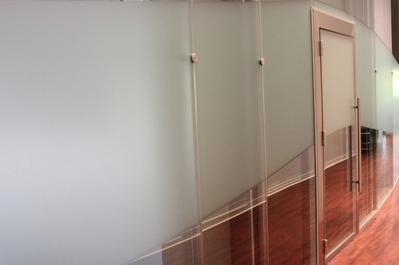 Acoustic double glazed doors can be fitted with hinges or pivots