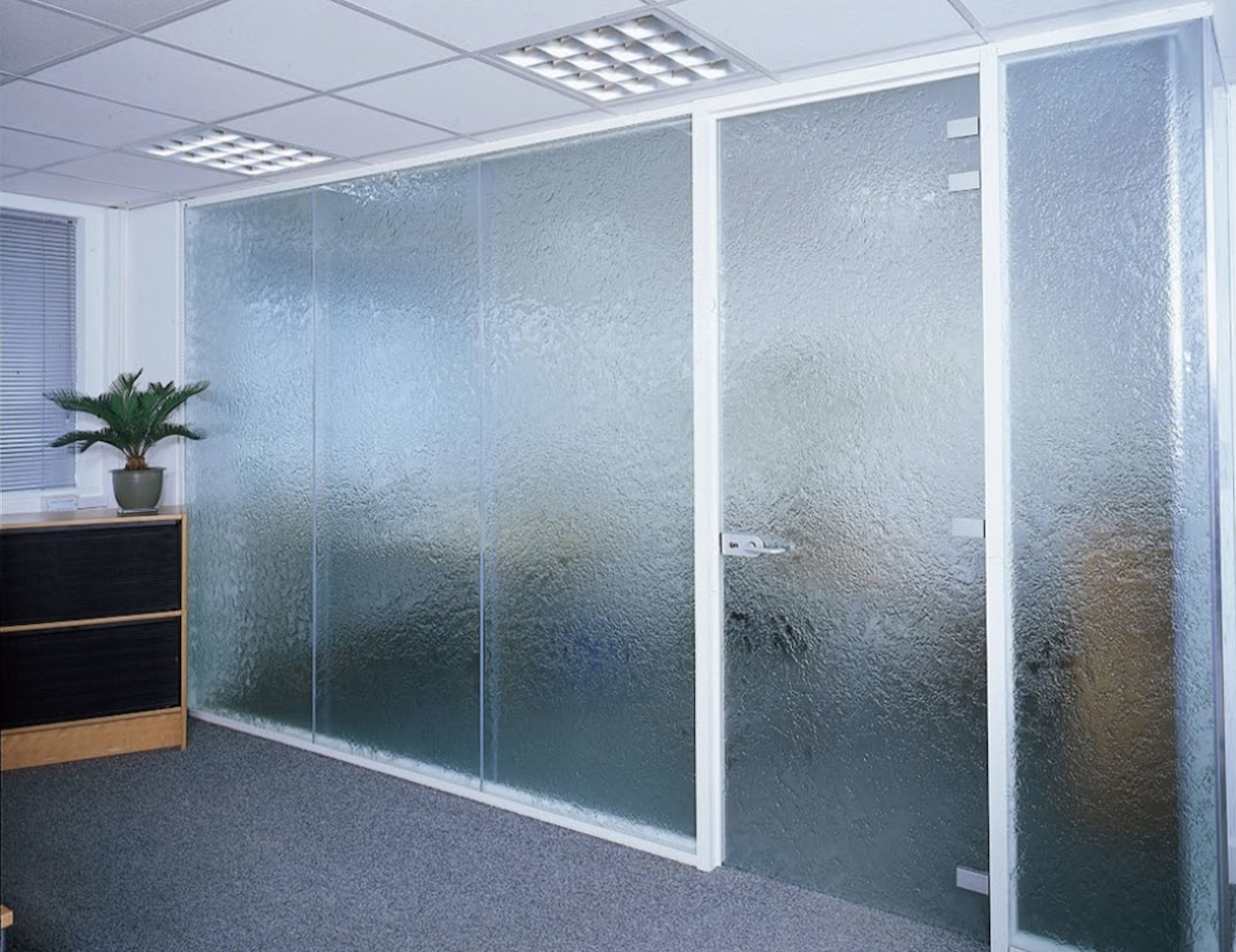 Hinged glass frame swing doors can be a pair or curved configuration