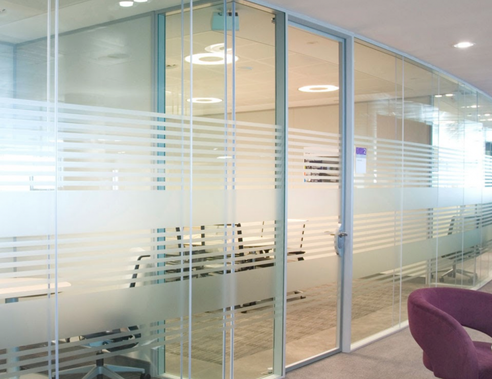 Full Height Glazed Partition System