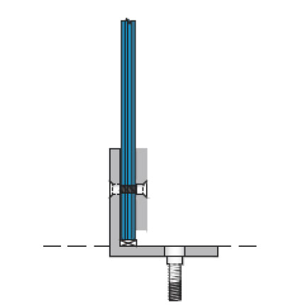 Glazed Partition Sill Base Angle