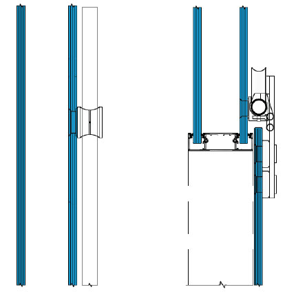 Double Glazed Sliding Door Head