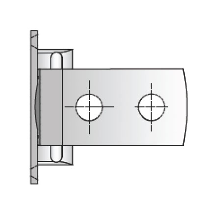 Frame To Glass Hydraulic Hinge