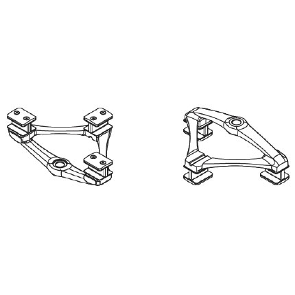 Terminal Support With Cable Clamps