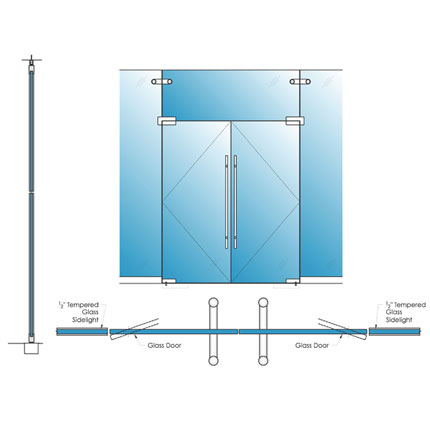 Single Glazed Glass & Herculite Doors | Avanti Systems USA