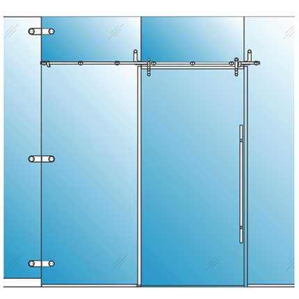 Sliding Glass Barn Door